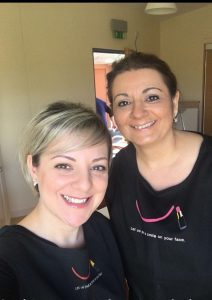 Donna and myself (volunteers) after the Look Good Feel Better class